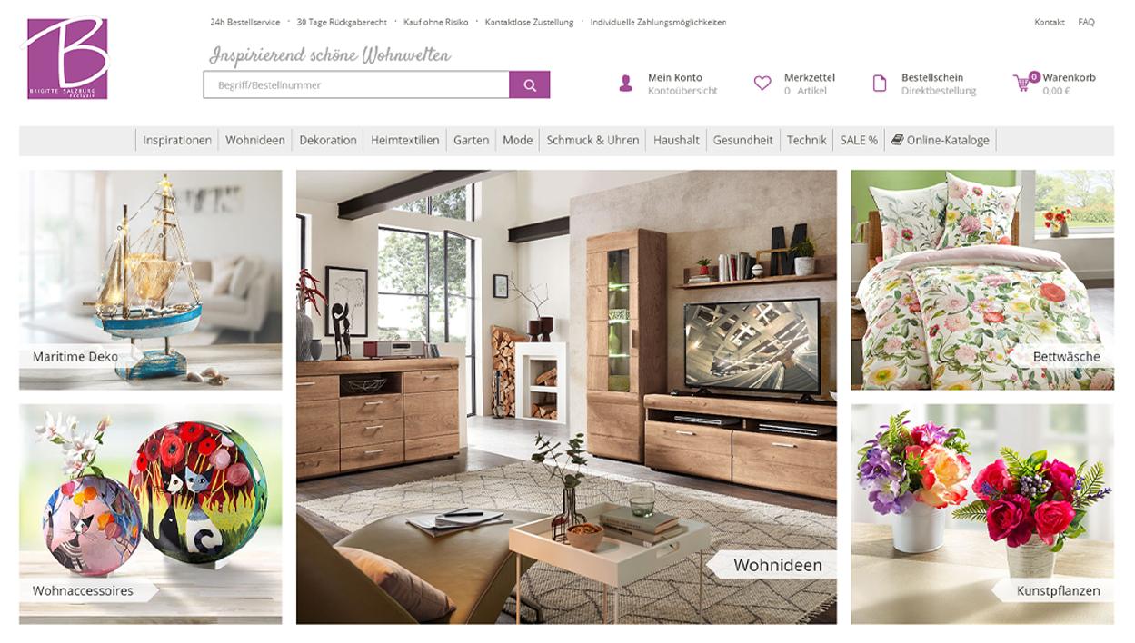 Brigitte Salzburg Startseite Online-Shop